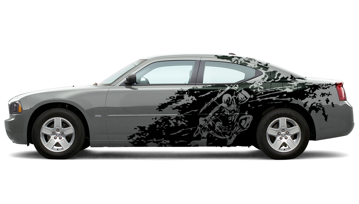 Dodge Challenger Charger Splash Grunge Stripes Kit Hell Cat Vinyl Decal Graphic