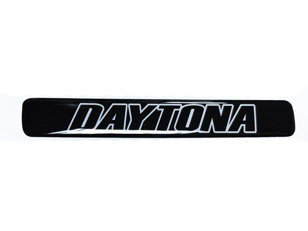 Ein Lenkrad Weiß und Schwarz Daytona Challenger Charger Emblem Kuppel Aufkleber