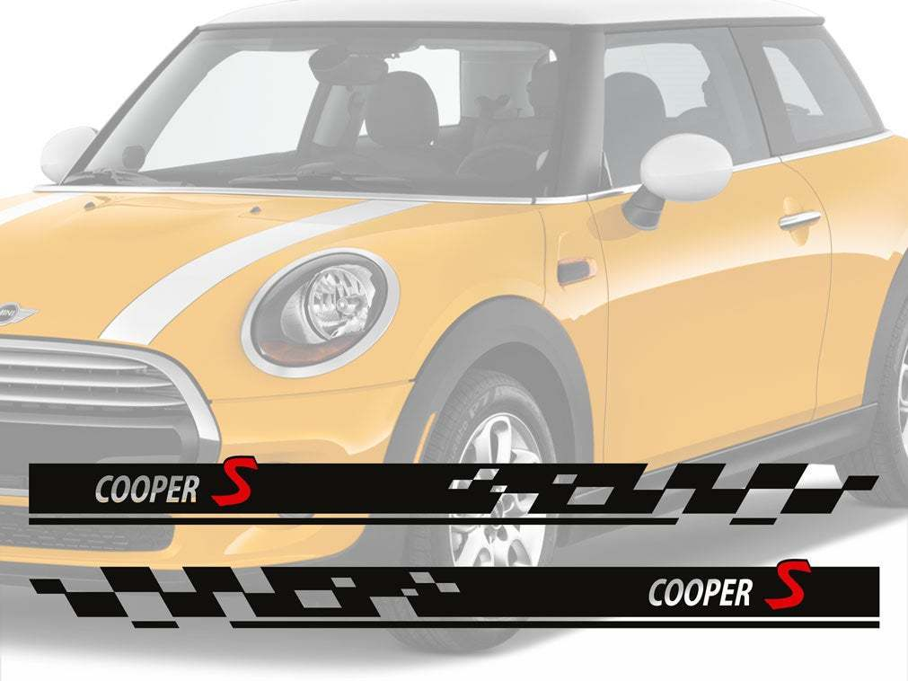 Stripes Cooper S Vinyl decal stripe KIT 2 side fit to MINI COOPER