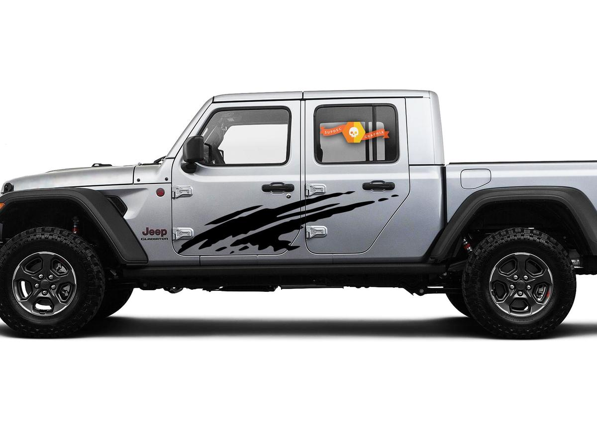 Jeep Gladiator Side JT Extra Large Side Splash Style Vinyl decal sticker Graphics kit for 2018 - 2021