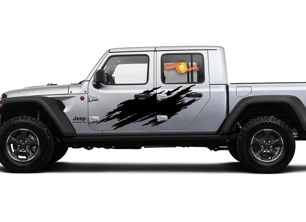 Jeep Gladiator SideExtra Large Side Splash unique Style Vinyl decal sticker Graphics kit for JT 2018-2021