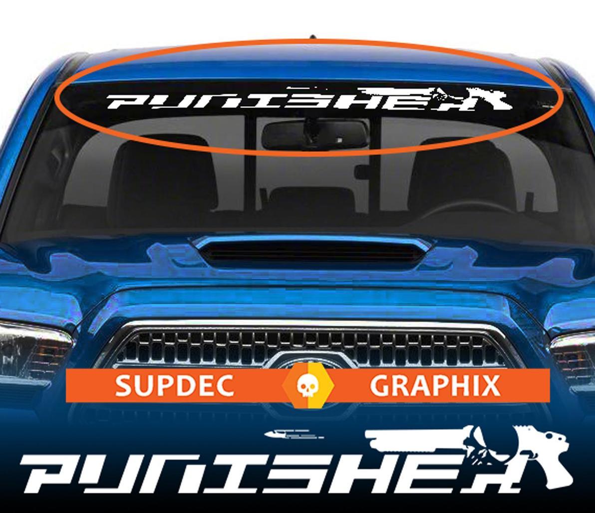 Punisher Kugel Fenster Windschutzscheibe Banner Aufkleber Aufkleber von SupDec Graphix