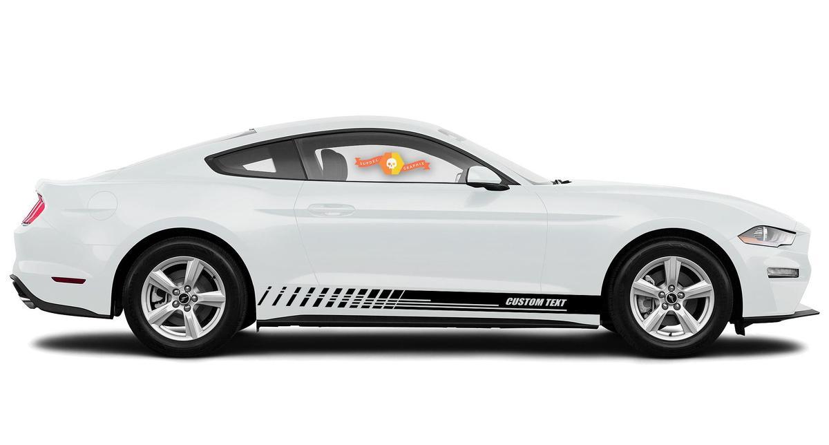 Racing Rocker Panel Streifen Vinyl Aufkleber Aufkleber für Ford Mustang 2020