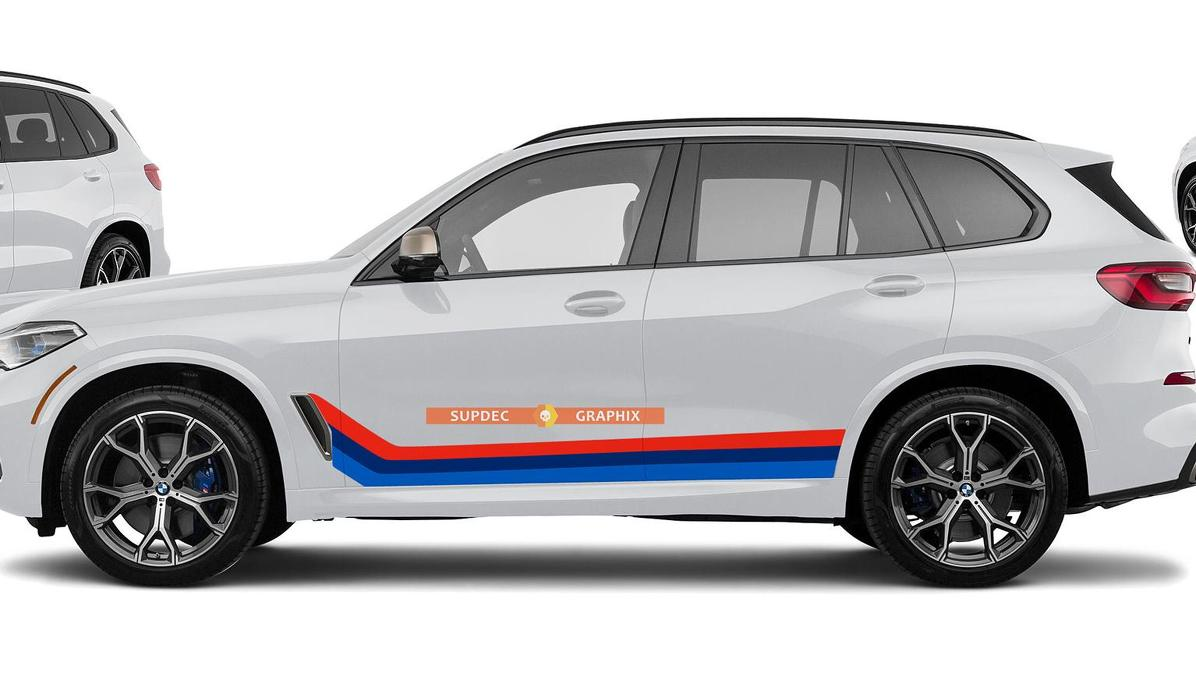 M colors Vinyl Stripes for BMW X5 M50 G05 Monochrome style and German on your choice