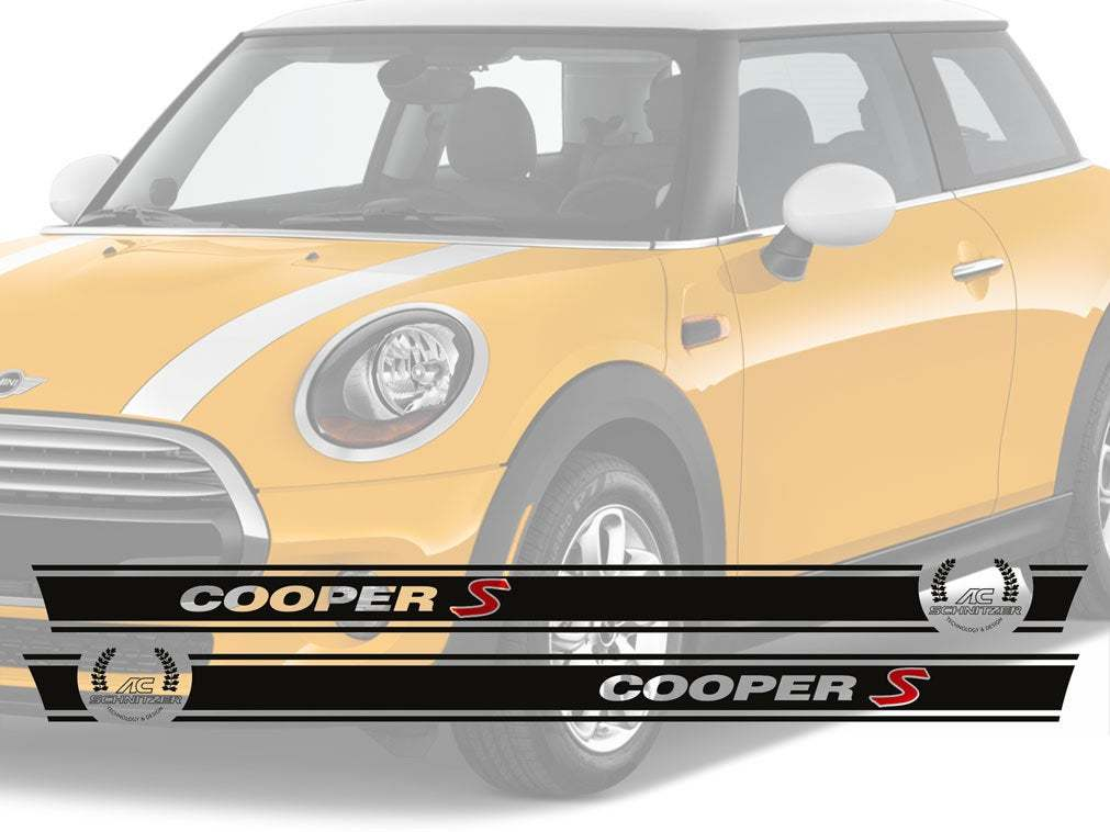 Stripes Cooper S AC Schnitzer Vinyl decal stripe KIT 2 side fit to Mini COOPER