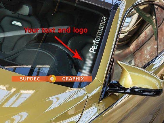 Ihr Text Leistung M3 M5 E34 E36 E39 E46 E60 E70 E90 Windschutzscheibenaufkleber BMW Logo