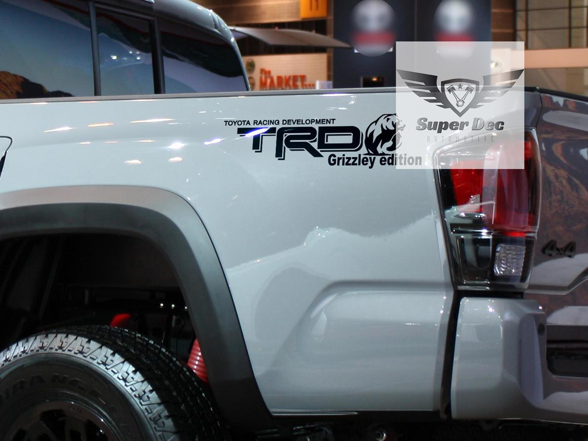 TRD Grizzley Edition custom Toyota Racing Development off road Tacoma Tundra FJ Cruiser sticker decal any colors