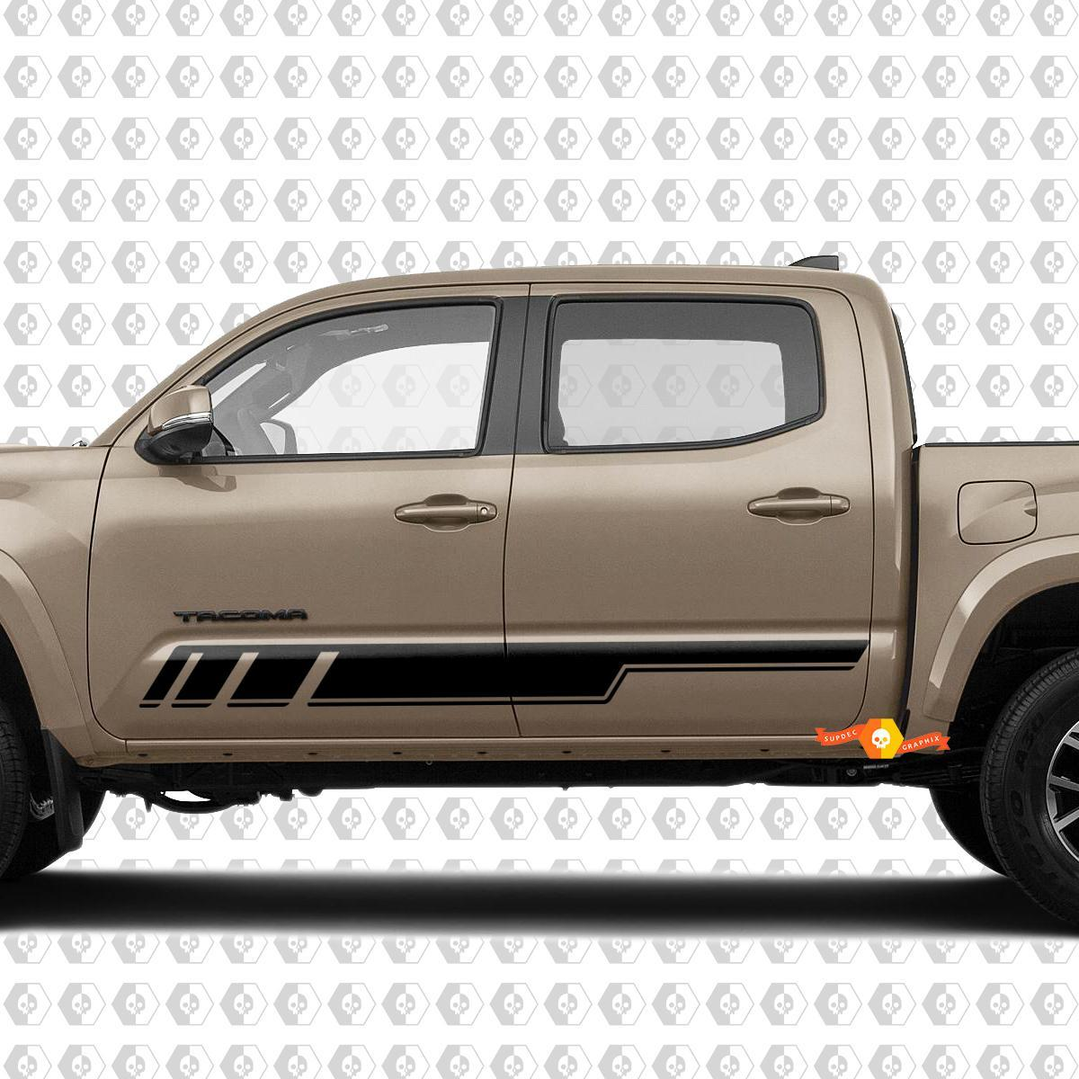 2x Stripes for Tacoma Side Rocker Panel Vinyl Stickers Decal fit to Toyota Tacoma TRD Off Road Pro Sport