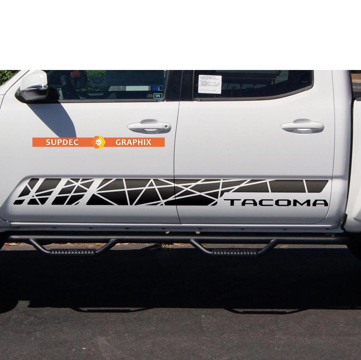 Side Rocker Panel Stripes Vinyl Sticker Decal fit to Toyota Tacoma TRD Line Style