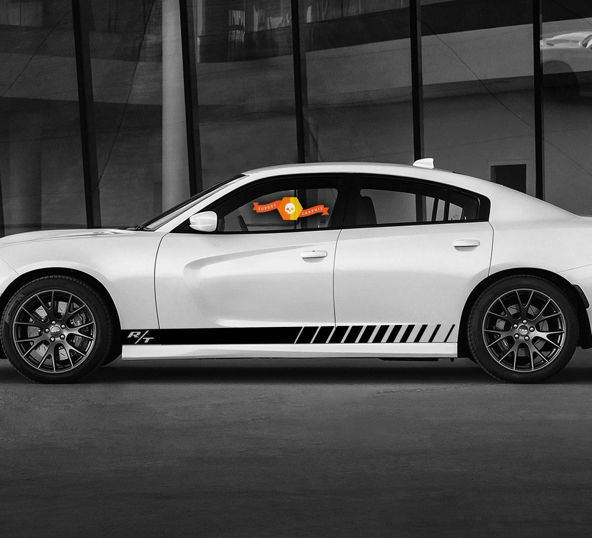 Dodge Charger Standard Streifen Rocker Rocker Seitenband Aufkleber Aufkleber für Hemi Daytona RT GT Mopar Grafiken
