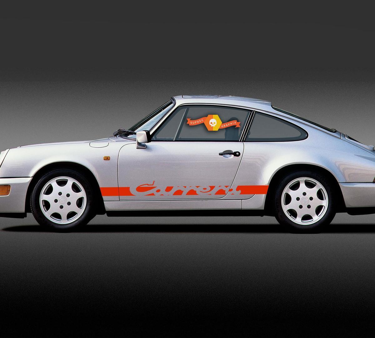Porsche 911 Carrera Stripes Side Decal Sticker