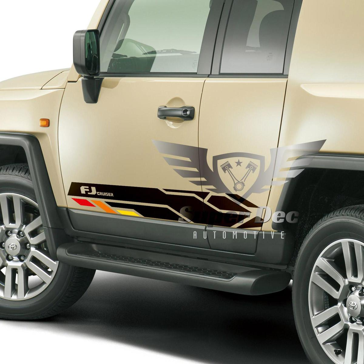 Toyota FJ Cruiser Vintage Side Vinyl Stickers Decal