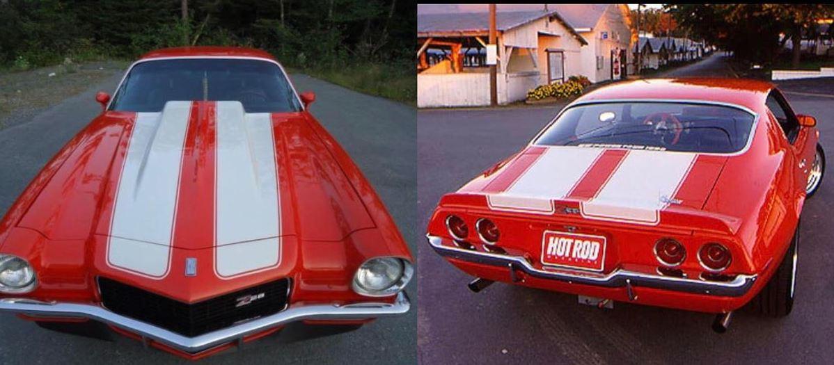1970 1971 1972 1973 Camaro Z28 Rallye Sport RS SS Supersport Vinyl Aufkleber Grafikaufkleber Streifen Kit für 2 Zoll Motorhaube