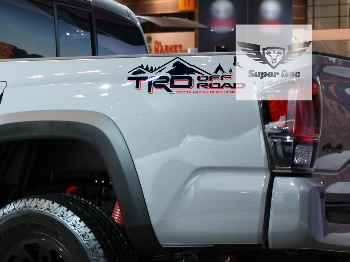 TRD 4x4 PRO Sport Off Road Camp Edition Mountains Forest Side Vinyl Stickers Decal fit to Tacoma Tundra 4Runner #2