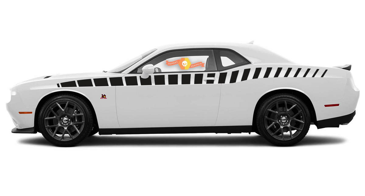 2X Dodge Challenger R / T Streifenkamm Aufkleber Streifen Vinyl Grafiken