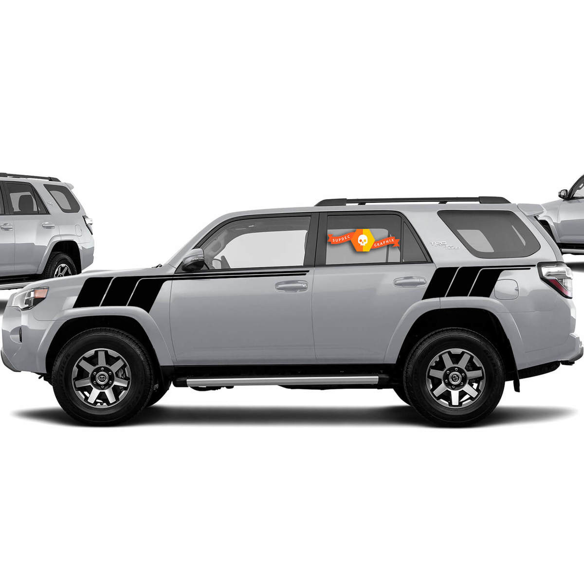 Kits Of Toyota 4runner Trd Back To The Future All Black Retro Vintage Stripe Kit Sport