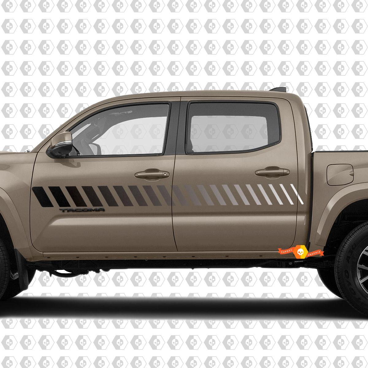 Toyota Tacoma Side Stripe Kit Retro Vintage 80s Monochrome Decals Graphics 2016 2017 2018 2019 2020