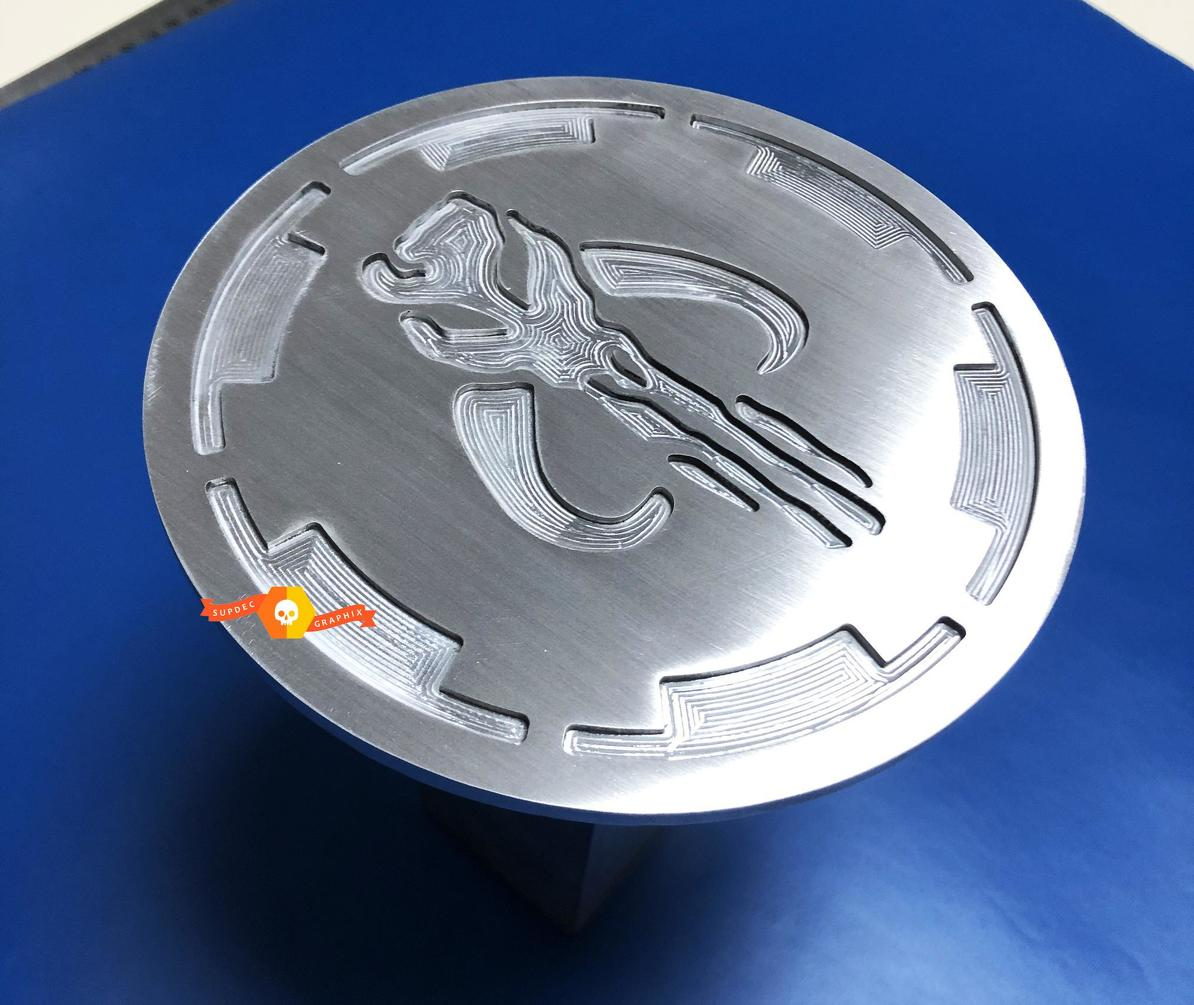 Mandalorian ALUMINIUM Trailer Hitch Cover