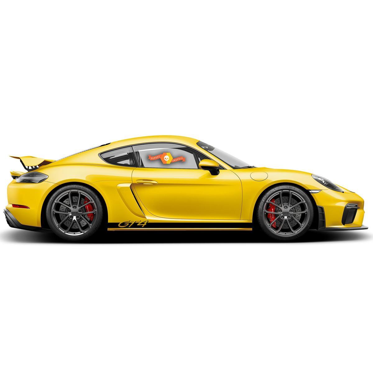 Porsche GT4 Side Stripes Kit Decal Sticker