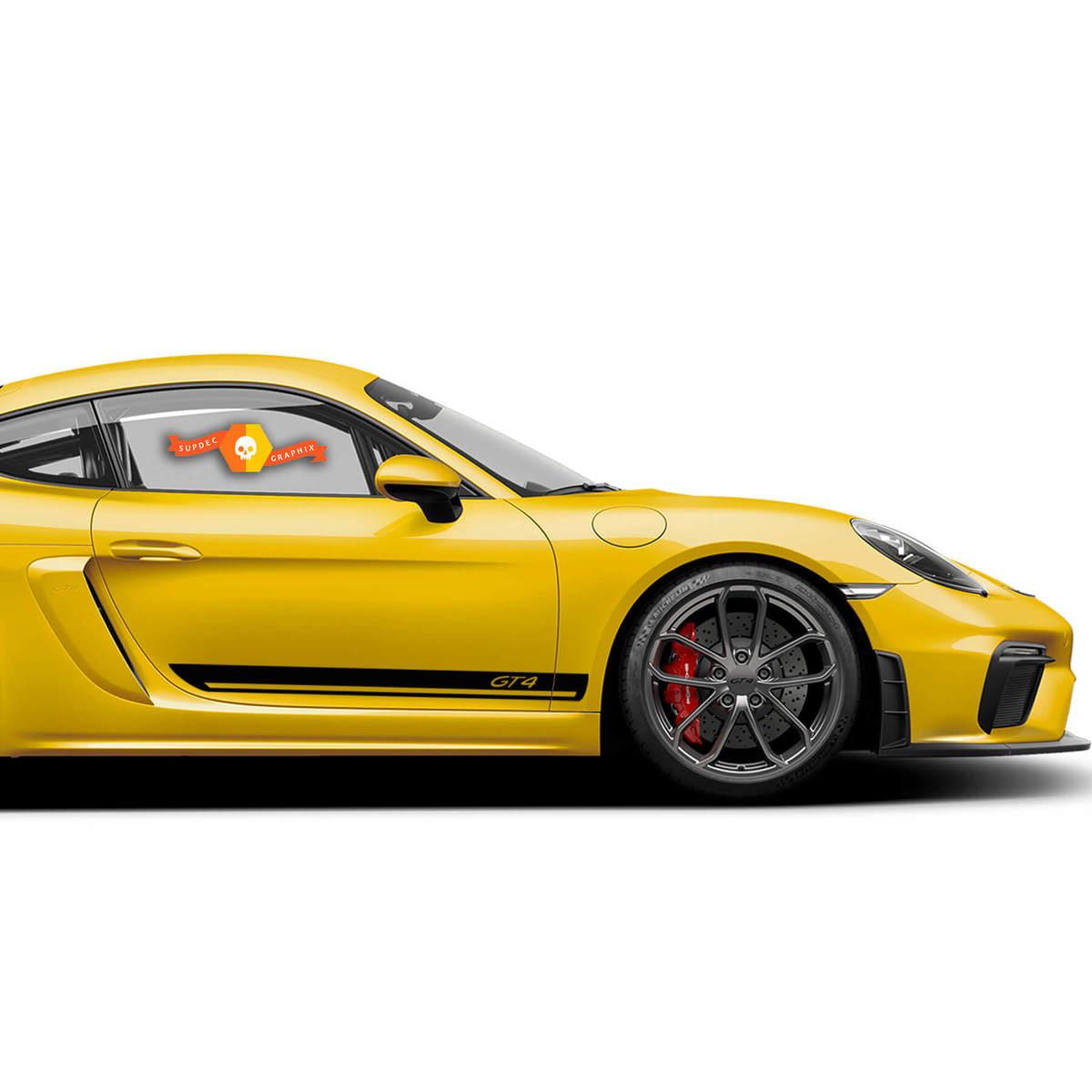 Porsche 718 Cayman GT4 Side Stripes Kit Decal Sticker
