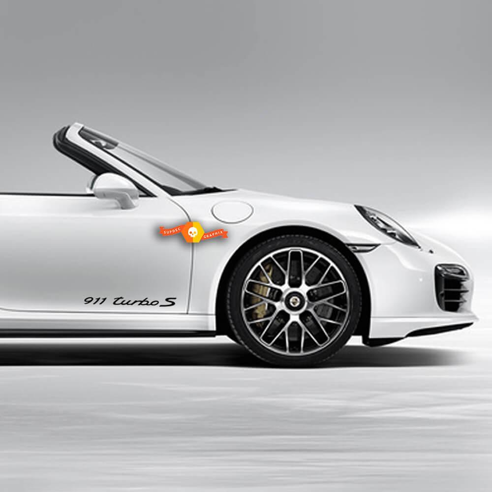 Porsche Stickers Porsche 911 Turbo S Signature Side Decal Sticker