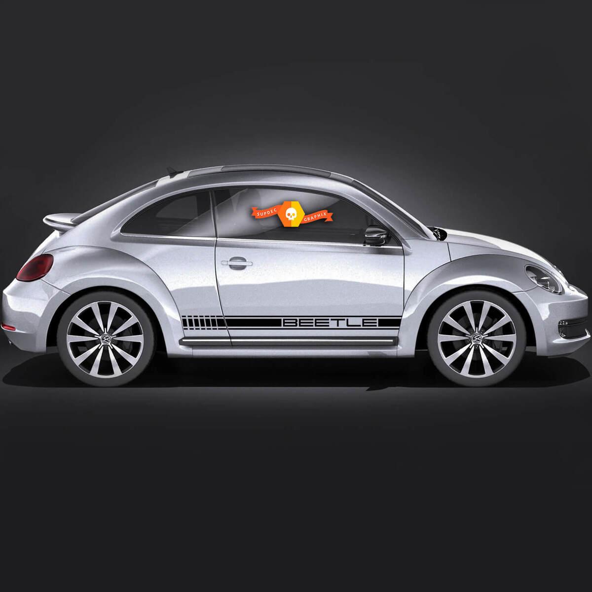 Volkswagen Beetle rocker Stripe Porsche Look Graphics Decals Cabrio style fit any year
