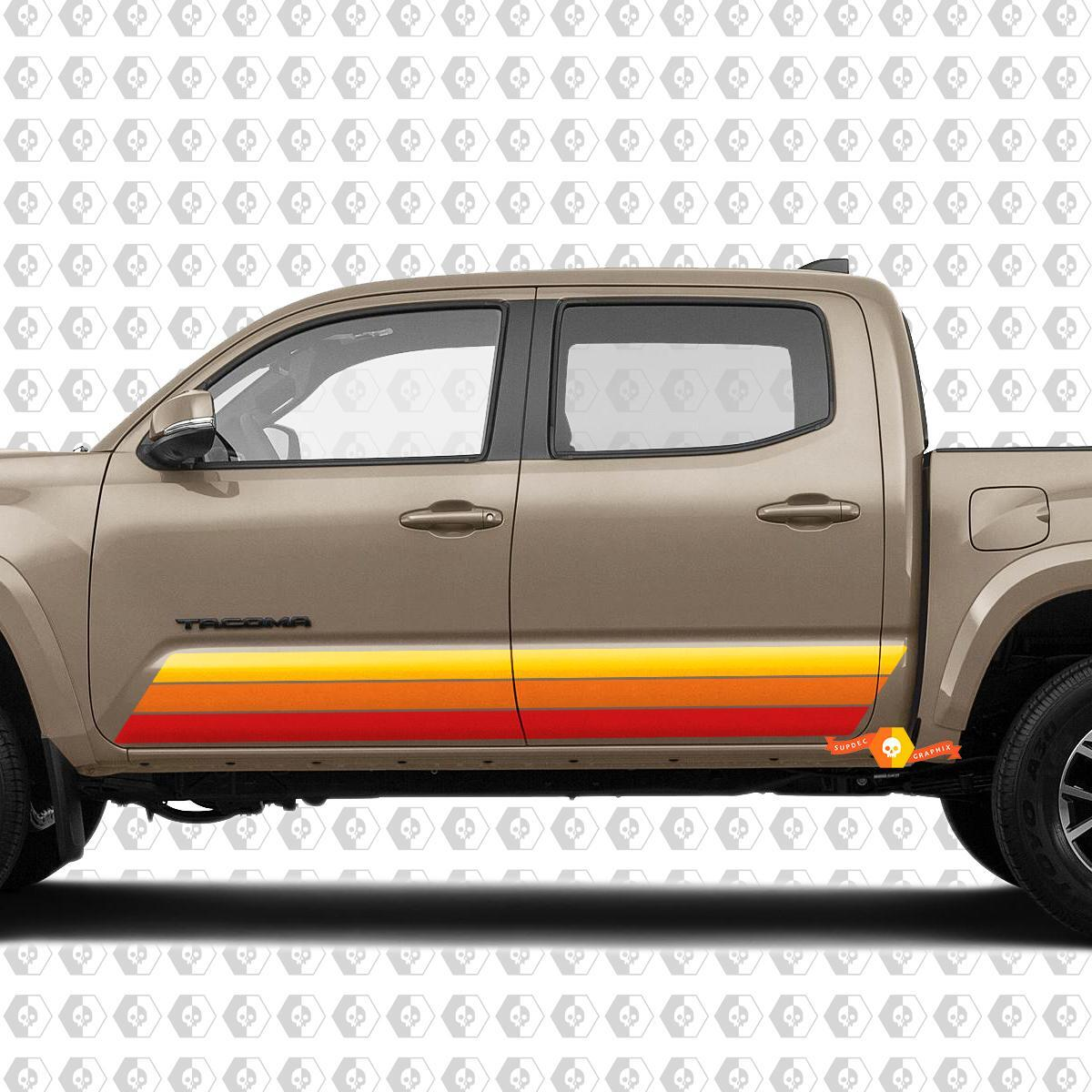 Toyota Tacoma TRD Sport PRO Side Retro Vintage Rocker Panel Stripes Decal Graphics 2016 - 2020 new