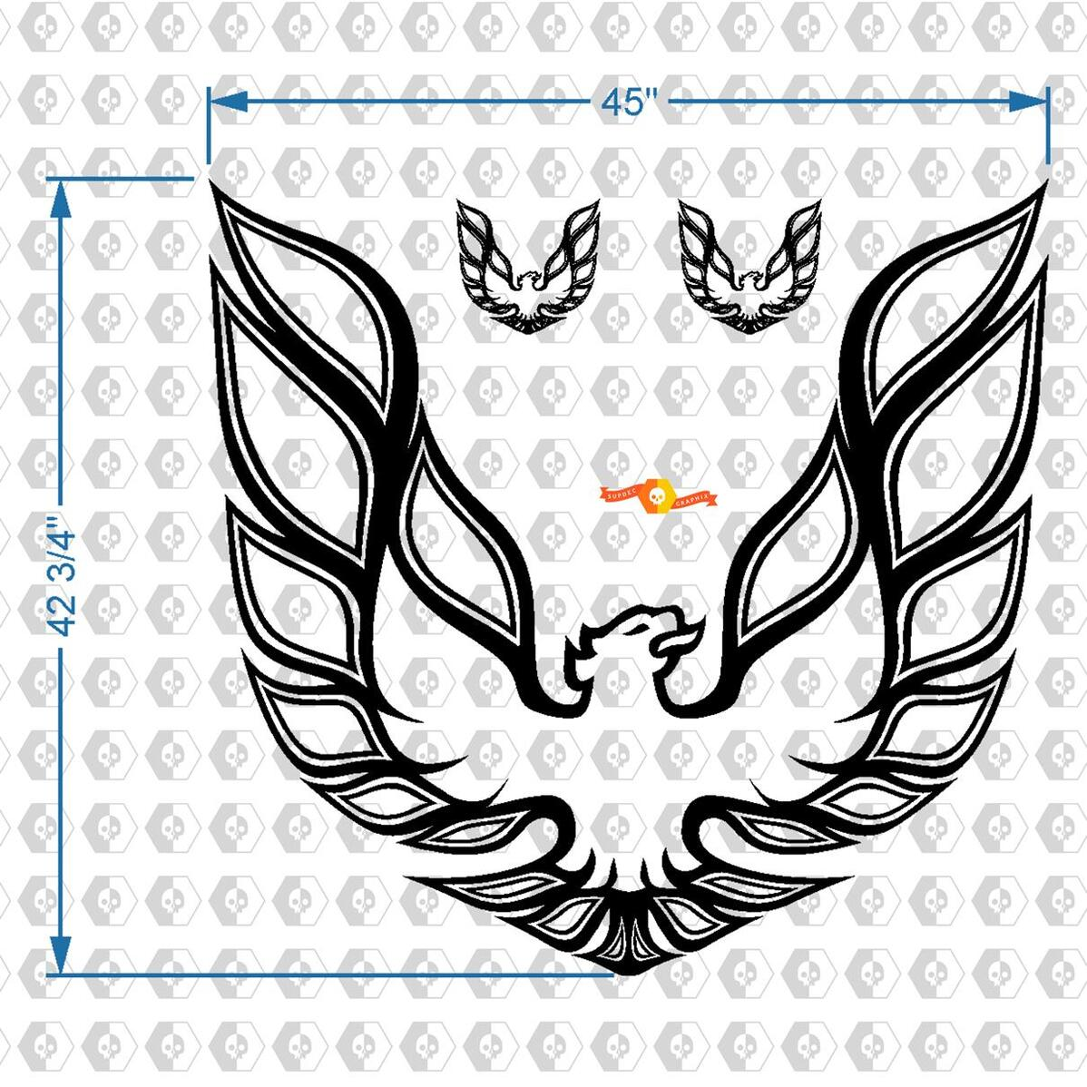Firebird Trans Am Pontiac Hood Vogel Aufkleber Grafik Jede Farbe 45 x 42