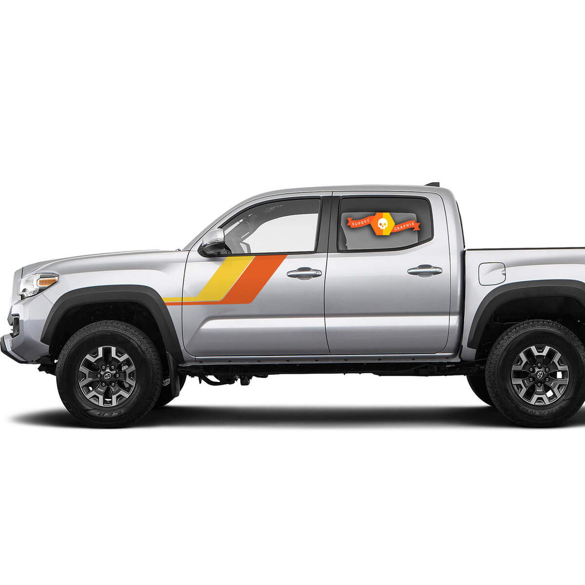 Toyota Tacoma Trd Sport Pro Side Retro Vintage Stripes Decal Graphics 2016 2020 Style 2