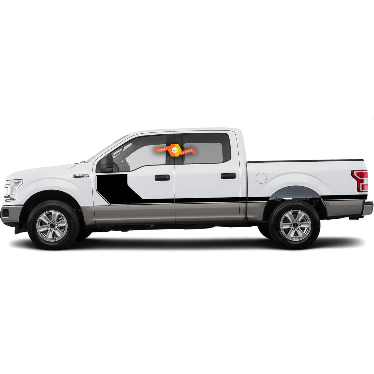 2015-2020 SIDELINE Hockey Side Vinyl Graphics Kit Decals Stripes for Ford F-150