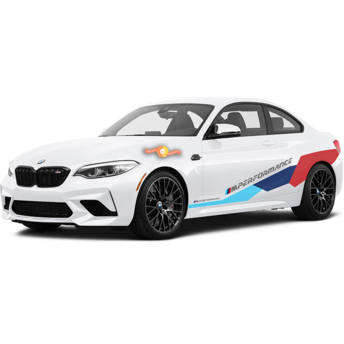 BMW M Power M Performance Huge Side New vinyl decals stickers For M4 M2 M5 M3