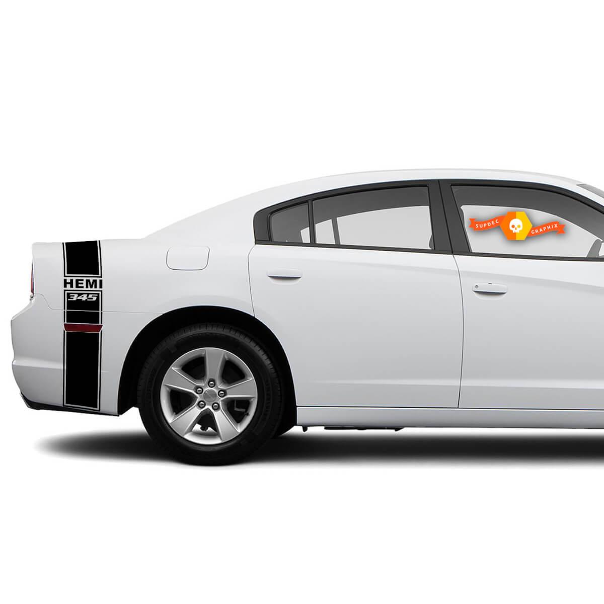 HEMI 345 Dodge Charger Kofferraumband Aufkleber Komplettes Grafik-Kit passt zu den Modellen 2011-2014