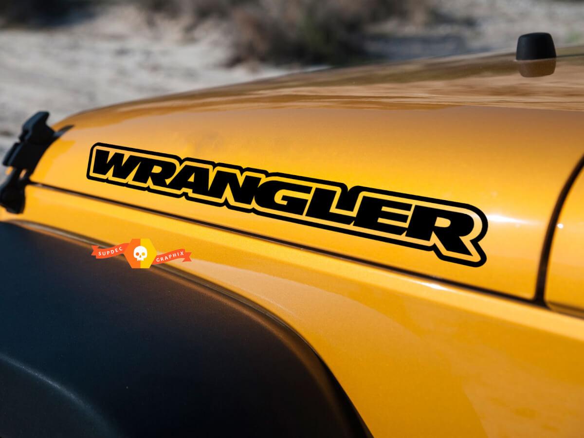 Jeep WRANGLER Hood Umriss Aufkleber Vinyl Aufkleber JK TJ YJ CJ PAAR