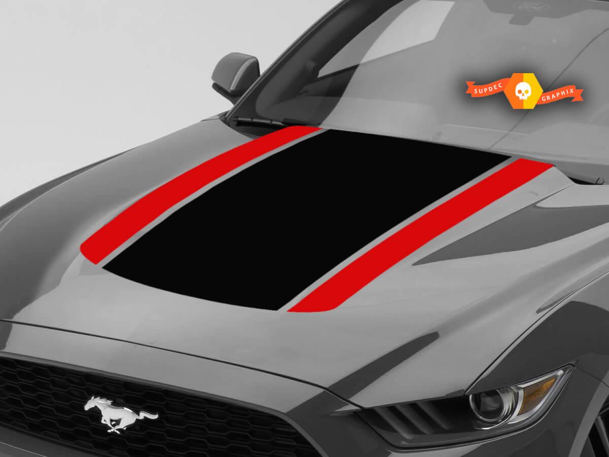 Ford Mustang Zubehör Motorhaube Streifen Grafik Aufkleber Duo Farbe jedes Jahr Mustang