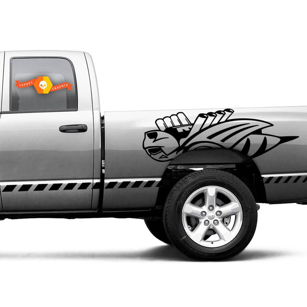 2x große Rumble Bee Aufkleber für Dodge Ram 1500 2500 Vinyl Aufkleber Aufkleber