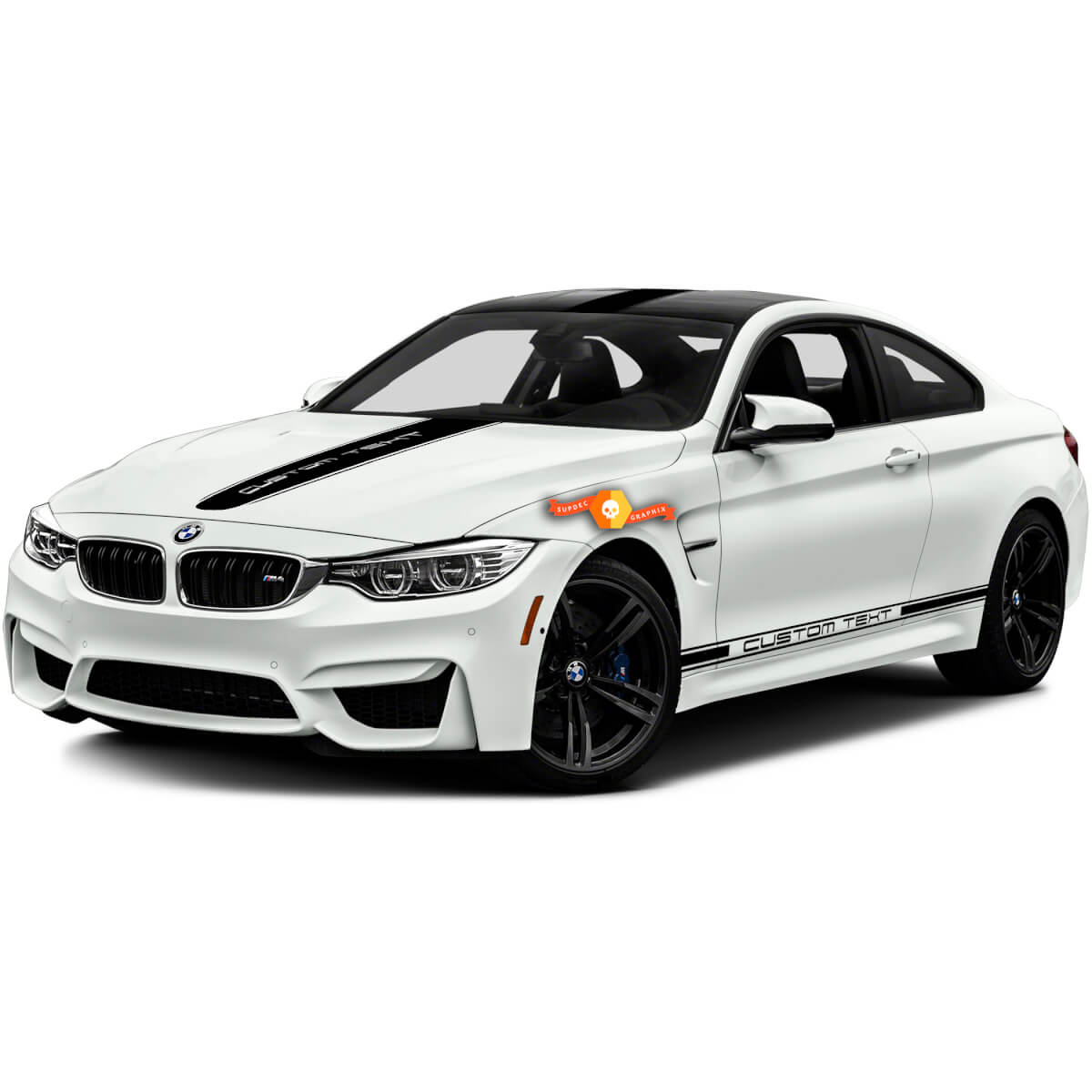 BMW M bmw m3 m4 one color racing stripes and hood top sides vinyl decals stickers