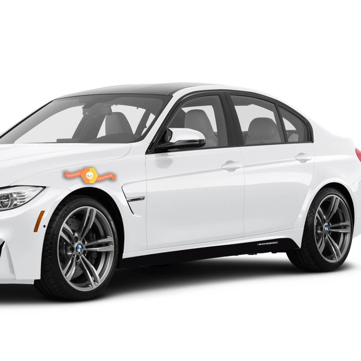 2 BMW M Performance Set Seitenstreifen für die M3 Serie F80
