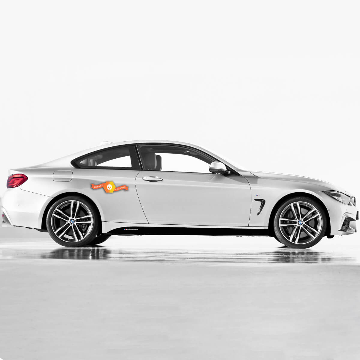 2 BMW M Performance Set Of Side Stripes For M4 F30 F31 F32 F33 F35 F36