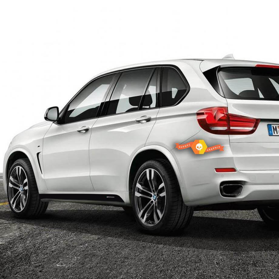 2 BMW M Performance Seitenrock-Aufkleber für M5 F15 X5 F16 X5