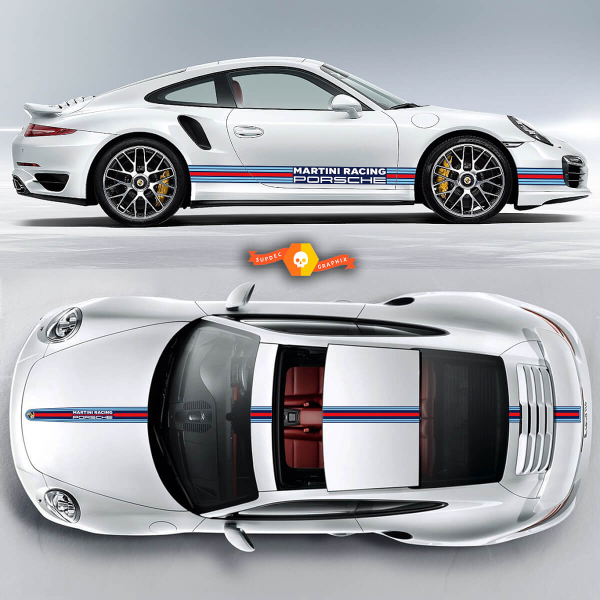 Porsche Martini Racing Stripes For Carrera Cayman  Boxster Or Any Porsche Full Kit
