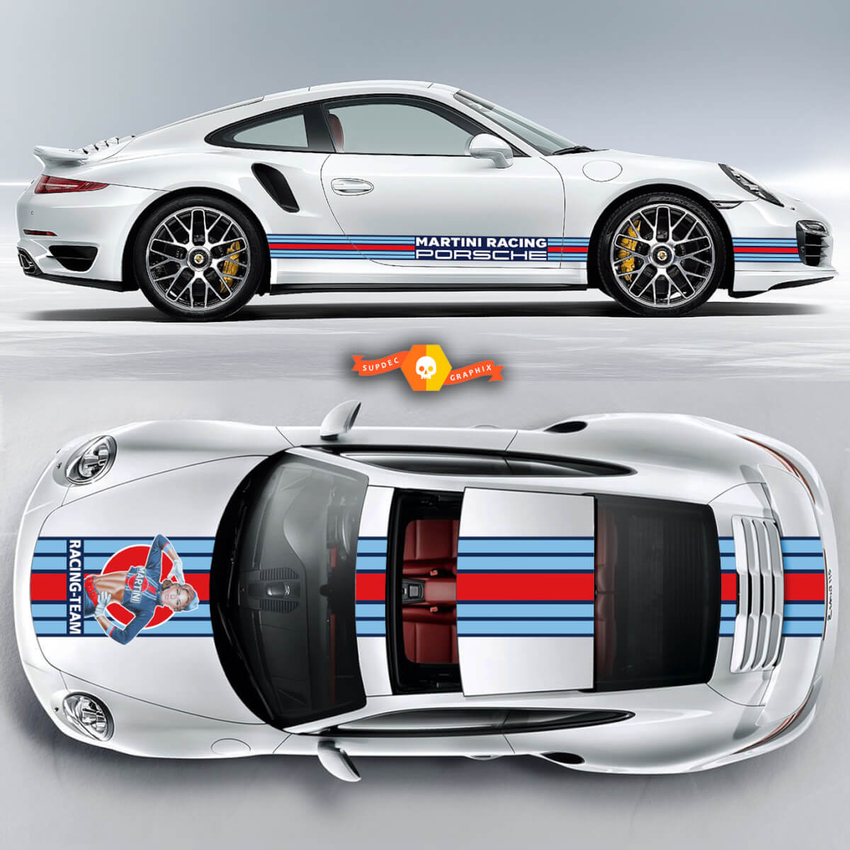 Porsche Pin Up Girl Racing Stripes For Carrera Cayman Boxster Or Any Porsche Full Kit
