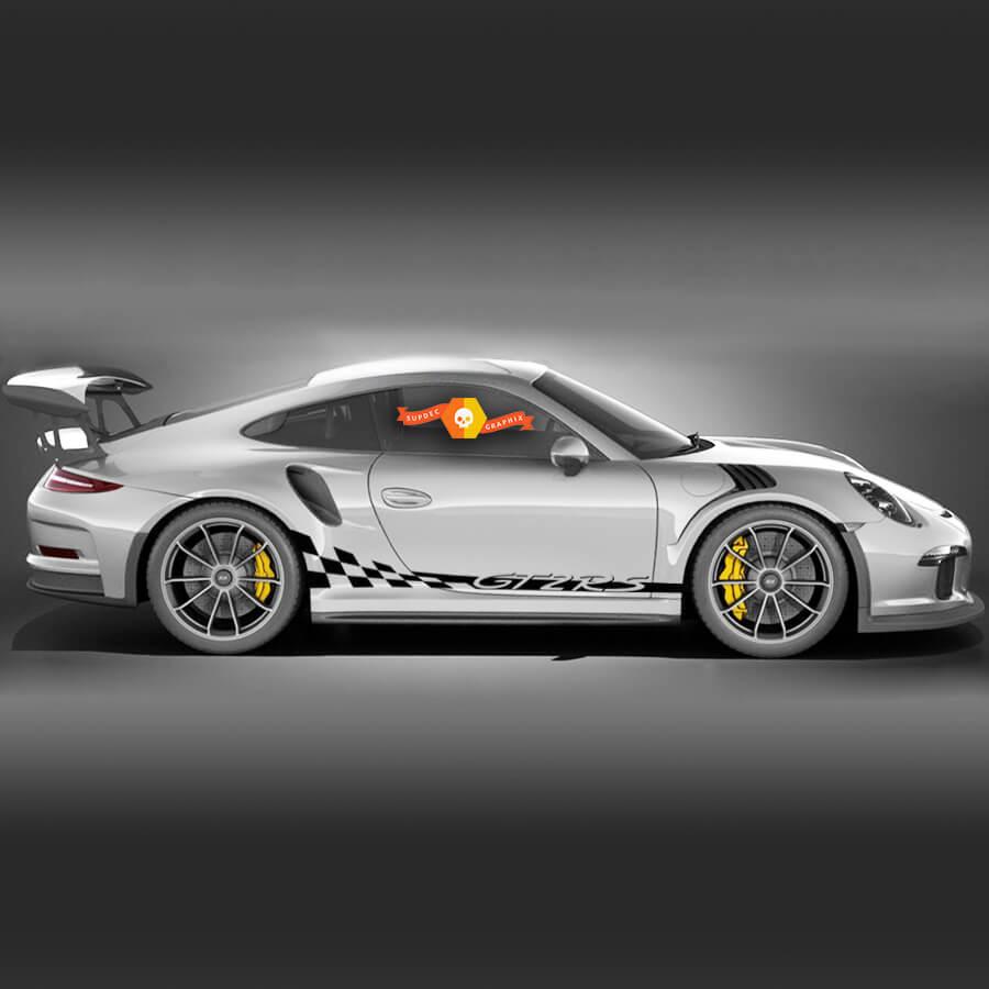 Porsche GT2 RS Racing Side Stripes For Carrera Side Сheckered Flag Stripes