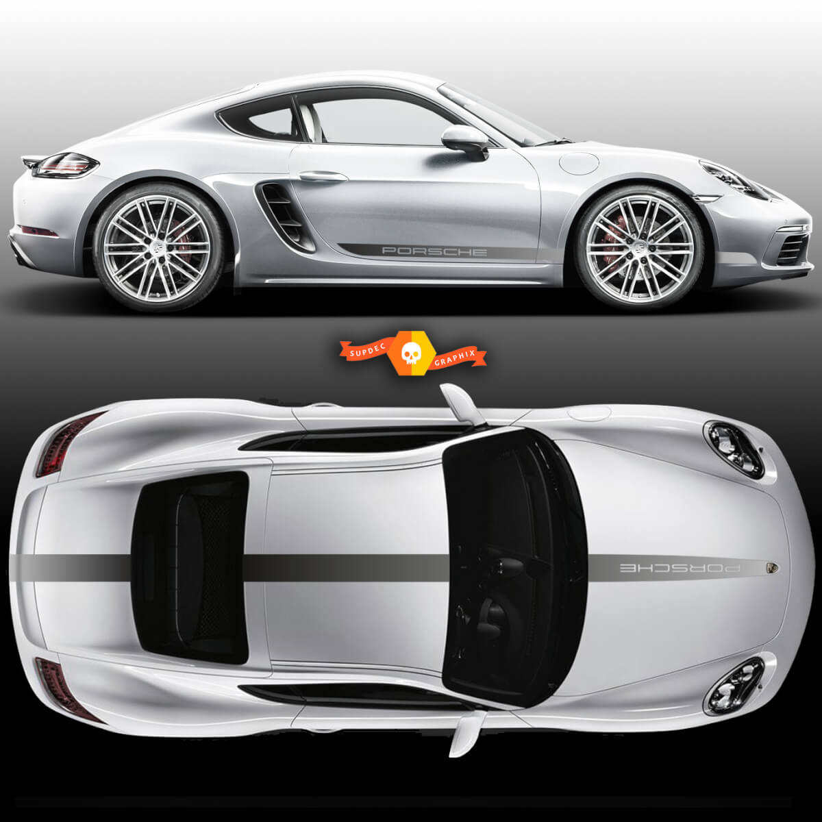 Gradient Color Porsche Carrera Cayman Boxster Faded Racing Stripes  Porsche For Carrera Or Any Porsche