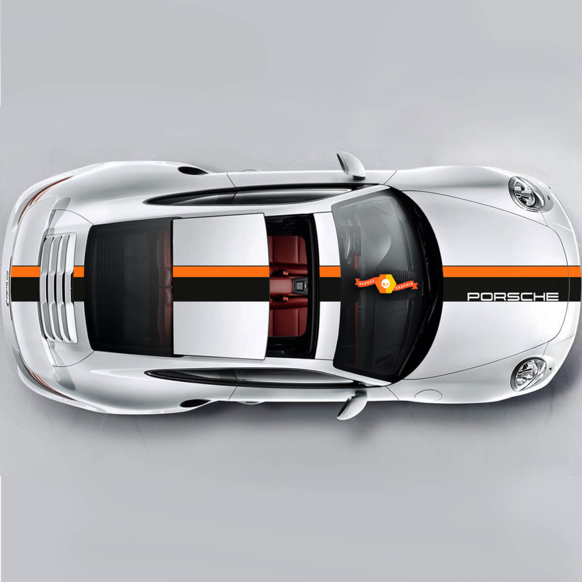 Set Stripes Graphic Decals For Porsche Carrera Cayman Boxster Or Any Porsche