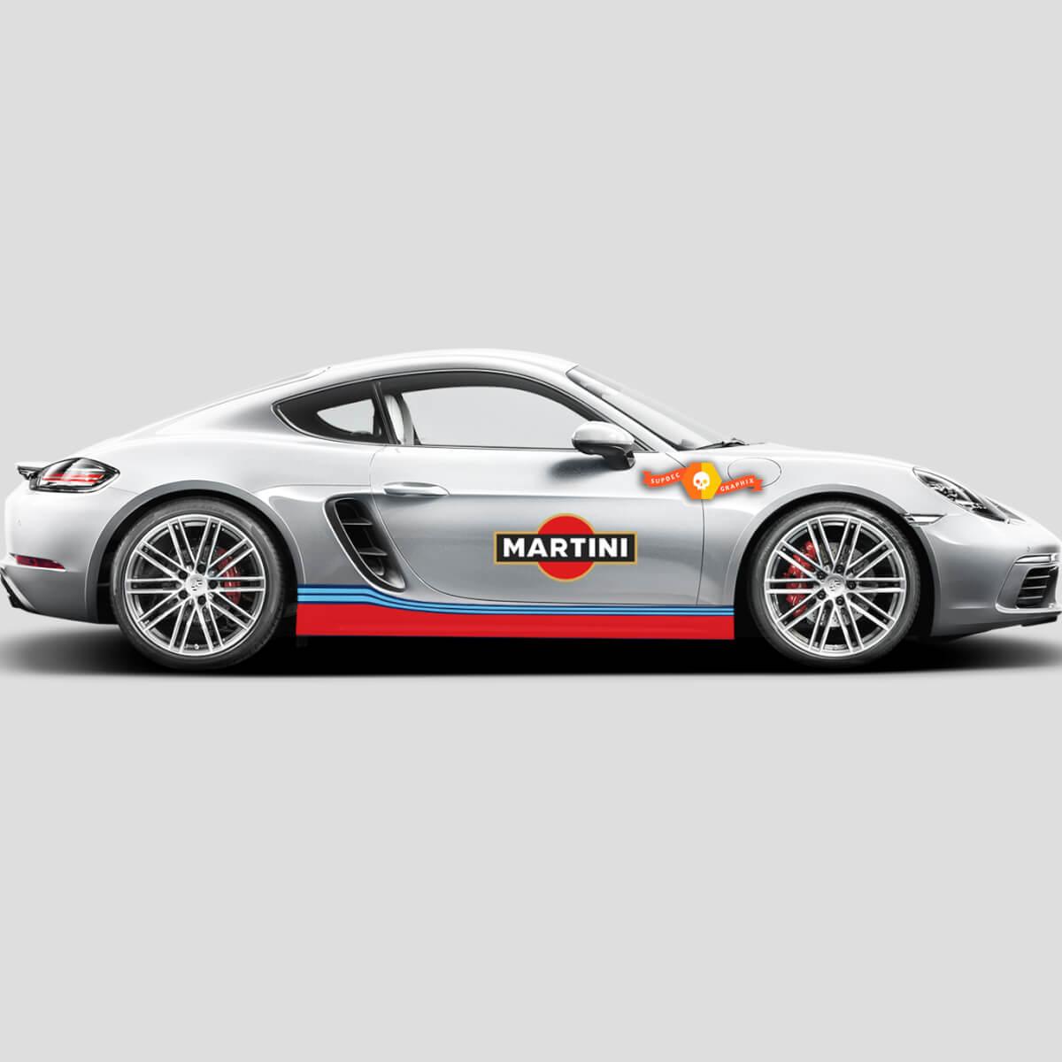 Porsche Cayman Boxster Martini Side stripes Or Any Porsche Full Kit