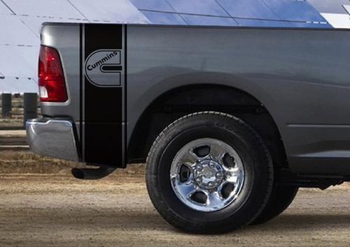 Dodge Ram Truck CUMMINS TURBO 2-STREIFEN-KIT Vinyl-Aufkleber
