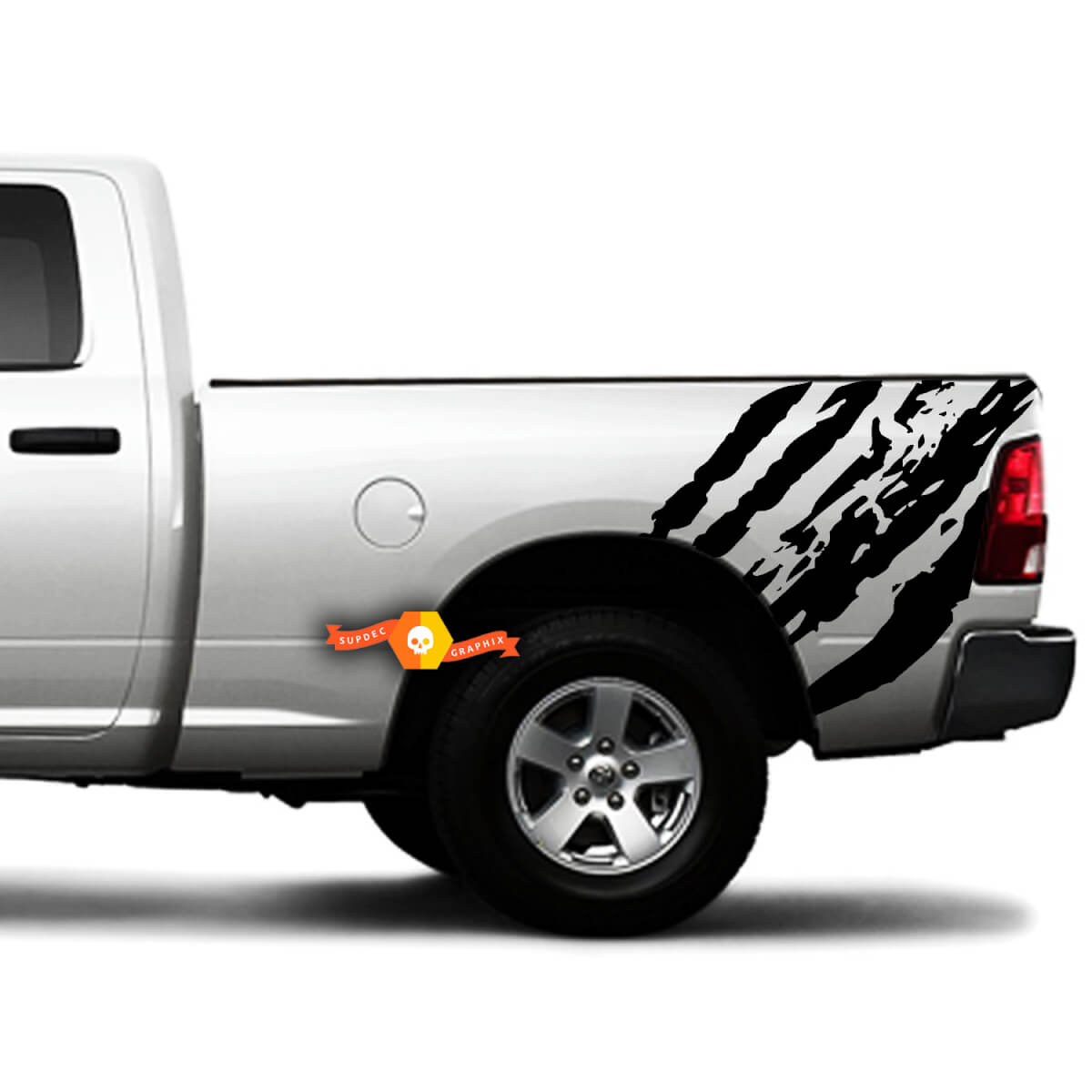 2 Side Splash Splatter Distressed Grunge Tribal Bed Side Pickup Vehicle Truck Vinyl Graphic Decal