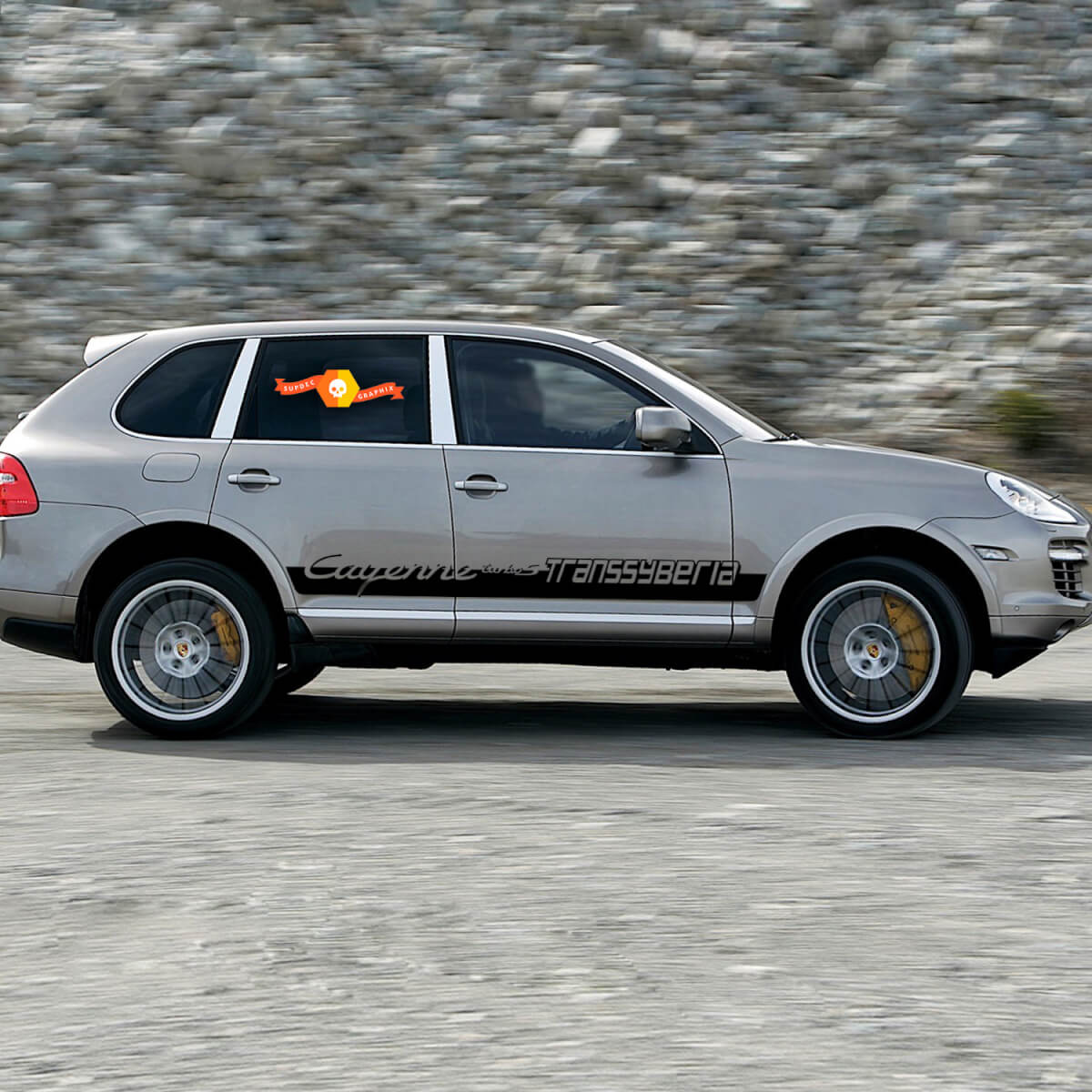 New Porsche Cayenne Transsyberian Side Stripes Kit Decal Sticker #1