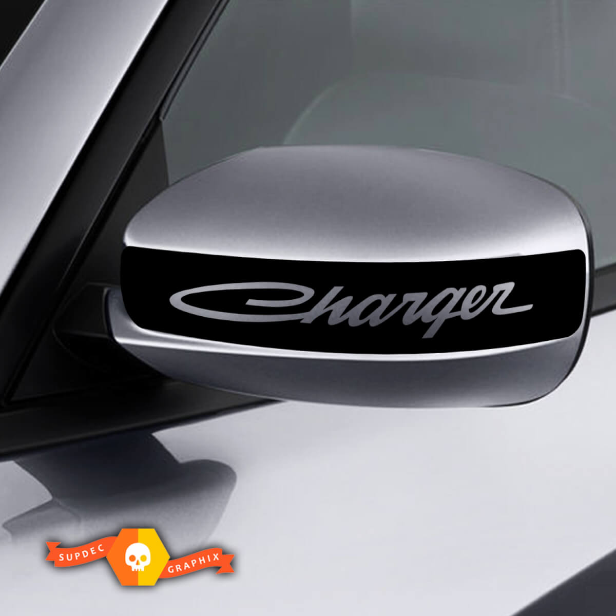 Dodge Charger Mirror Decal Sticker Charger Retro graphics fits to models 2011-2016