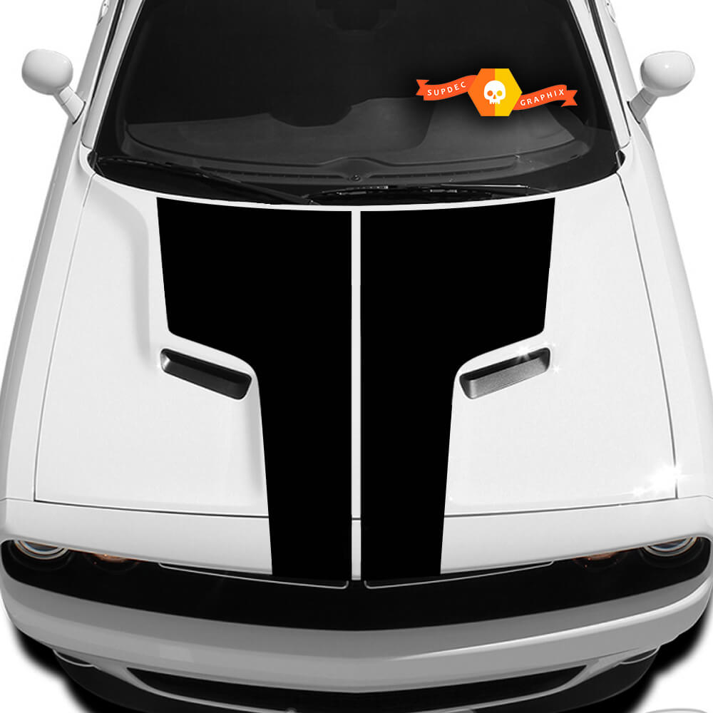 Dodge Challenger Hood T Decal Sticker Hood graphics fits to models 09 - 14